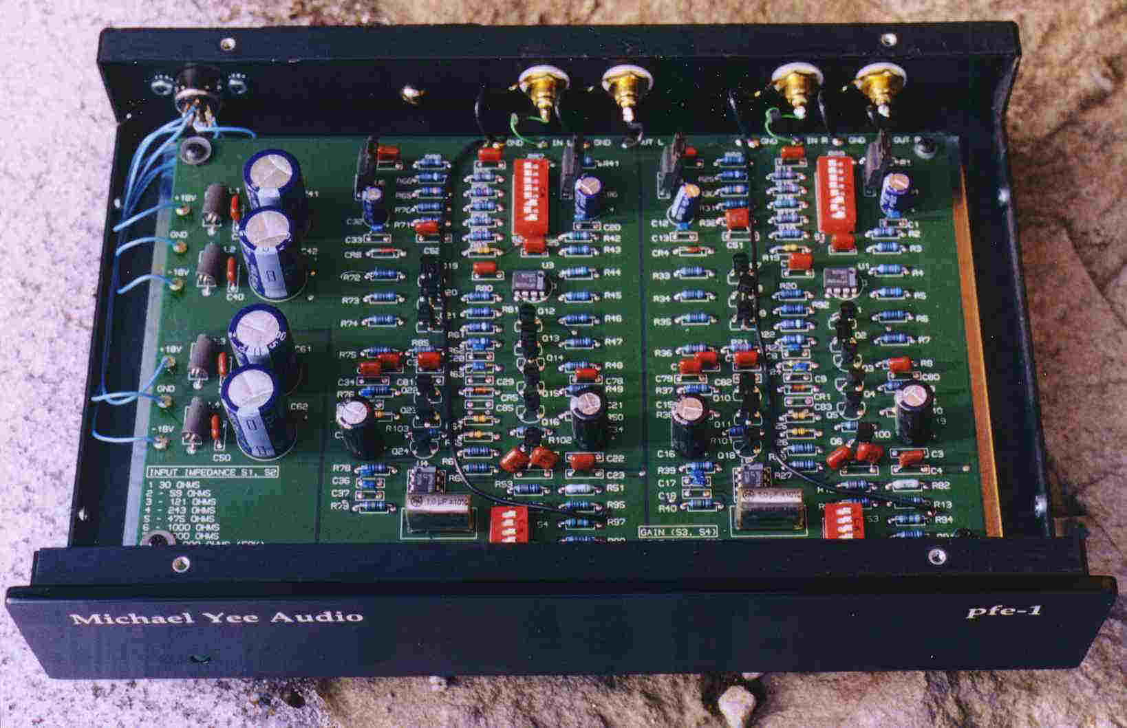 Previous Products Phono Preamplifier Circuit The Pfe 1 With Battery Supply And Board
